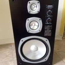 hitachi speakers. pair of retro hitachi model hs 330 speakers