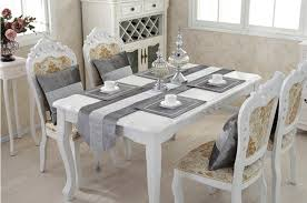 Designer Dining Table Mats Buy Di Grazia Sequined Polyester Luxury Table Runner With