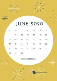 June Calendar Desktop Wallpaper 2020