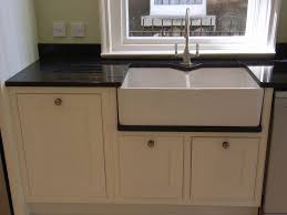 Stainless Steel Kitchen Sinks And Faucets  Installing Stainless Belfast Sink In Modern Kitchen