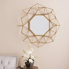 ... Fanciful Geometric Wall Mirror Southern Enterprises Flagler 29 In H X  30 W ...