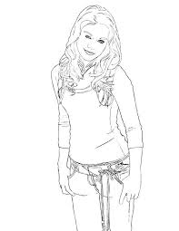 Small Picture The Charming Sharpay Evans in High School Musical Coloring Page