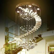 glass chandeliers luxury led raindrop chandelier crystal light led bulb lamps flush mount staircase lighting