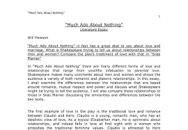much ado about nothing in fact has a great deal to say about love document image preview