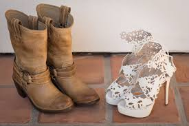 outdoor wedding shoes. Shoes Bags Photos Cowboy Boots Bridal Shoes Inside Weddings