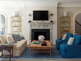 blue trellis and greek key rug