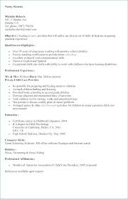 Nanny Job Description Resume A Infant Template New Position Summary Stunning Infant Nanny Resume