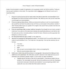 Letters Of Recommendation 33 Free Word Excel Pdf Format
