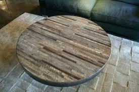 table wood round coffee tables chic reclaimed table patchwork with glass insert