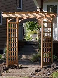 how to build a simple garden arbor instructionaterials list from thegardenglove com