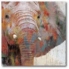 web g231 vintage elephant canvas 16x16 on african elephant canvas wall art with elephant embers 16 x 16 canvas wall art wall art home