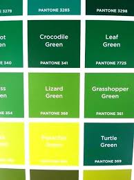 Green Shade Chart Grasshopper Green Shades Of Green Names Green Colour