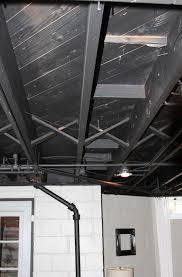 Black Exposed Basement Ceiling Home Design Ideas - Exposed basement ceiling