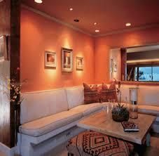 Two Color Living Room Walls Living Room Orange And Green Wall Color For Contemporary Living