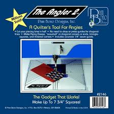 Recommendations: Not So Basic Quilting Tools - Quilting Gallery ... & The Angler 2 is a plastic quilting template that fits every sewing machine.  It can be installed and reinstalled in minutes with a few pieces of  painter's ... Adamdwight.com