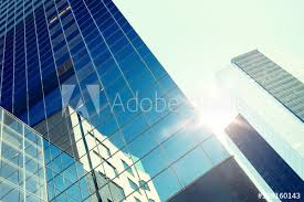 exterior office. Architecture, Exterior, Business, Real Estate And Construction Concept -  Close Up Of Office Exterior