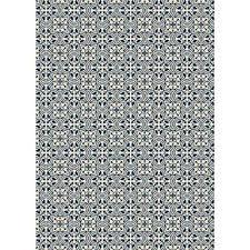 quad european design 5ft x 7ft blue white indoor outdoor vinyl rug