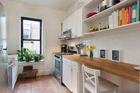 Contemporary White Country Galley Kitchen Small With Cabinets Subway Beautiful Ideas
