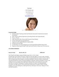 Example Of Nanny Resume 15 Good Nanny Resume Samples