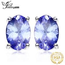 <b>JewelryPalace</b> 925 Sterling Silver <b>1ct</b> Natural Tanzanite Stud ...