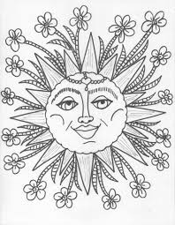 Sun And Moon Coloring Pages Betweenpietyanddesirecom
