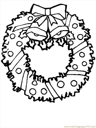 Small Picture Coloring printable christmas wreaths