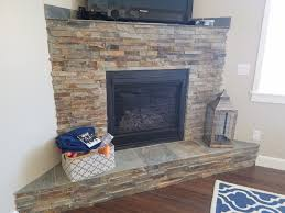 california gold ledger stone accent wall and fireplace surround multi colored slate ledger stone with
