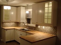 u shaped kitchen decoration with ikea oak kitchen butcher block countertops white raised panel cabinet