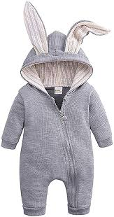 Fiomva <b>Newborn Baby</b> Boy Girl Warm Long Sleeve <b>Romper Outfits</b> ...