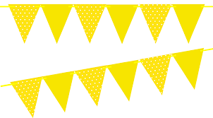 Triangle Banner Yellow Polka Dot Solid Yellow 10ft Vintage Pennant Banner Paper Triangle Bunting Flags For Weddings Birthdays Baby Showers Events Parties