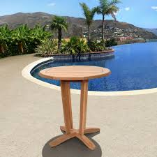ia nile teak round patio bistro table
