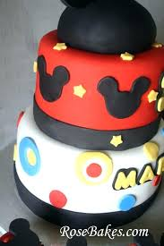 Mickey And Minnie Mouse Birthday Cake Ideas Twn Brthday Decoratons