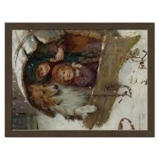 <b>Холст 30</b>×<b>40</b> Дети и собака, зима #2305650 от Apfelbaum