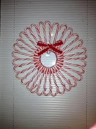 Candy Cane Christmas Wreath  Fun Family CraftsCandy Cane Wreath Christmas Craft