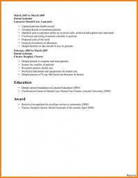 Resume For Dental Assistant Job Dental Assistant Resume Profile Qualifications Professional 42