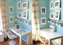 blue home office. Calming Blue Home Office S