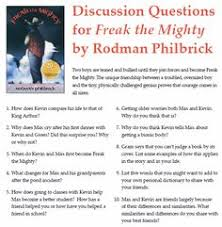 discussion questions for freak the mighty by rodman philbrick  discussion questions for freak the mighty by rodman philbrick