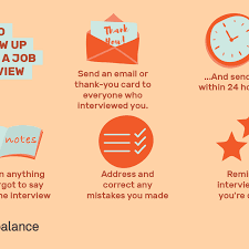 sending a thank you email after a phone interview how to follow up after a job interview
