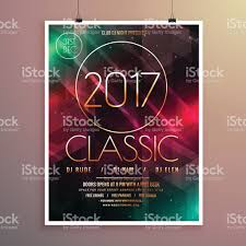 2017 new year party event flyer template colorful lights 2017 new year party event flyer template colorful lights royalty stock vector art