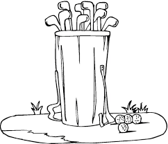 Small Picture Free Golf Coloring Pages