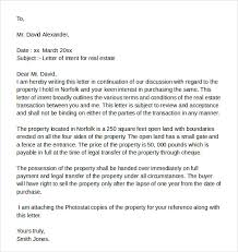 Real Estate Recommendation Letter Sample Letters Of Intent Real Estate Samples Examples Formats 7