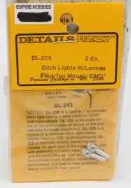 Ho Ditch Lights Details West Dl 228 Ho Ditch Lights W Lenses Pilot Top