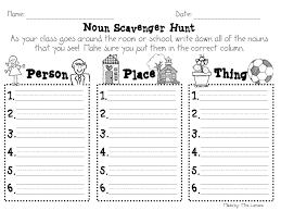 Did this with Angela - Noun Scavenger Hunt | Ideas for Writing ...