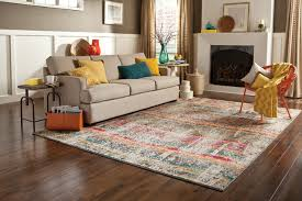 modern bright colored area rug modern living room