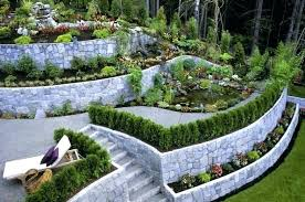 rock wall garden walls landscaping loading river