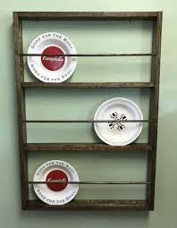 plate rack spice rack farmhouse plate