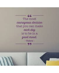 office inspiration quotes. Contemporary Inspiration Courageous Decision Good Mood Office Inspirational Wall Quotes Decal  Violet And Inspiration Quotes I