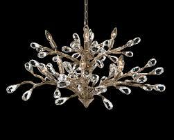 budding crystal ten light chandelier