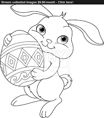 Small Picture Easter bunny Coloring page vector YayImagescom