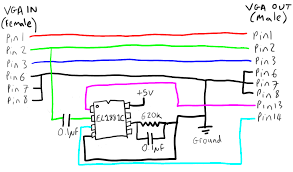 vga wire diagram  vga  diy wiring diagram repair manualvga wiring diagram on vga wire diagram